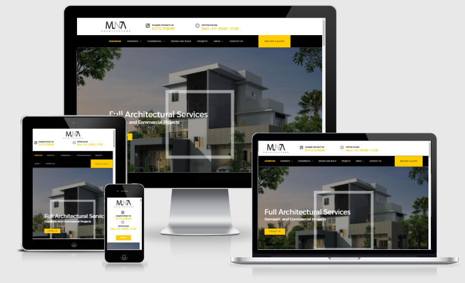 MNA website design