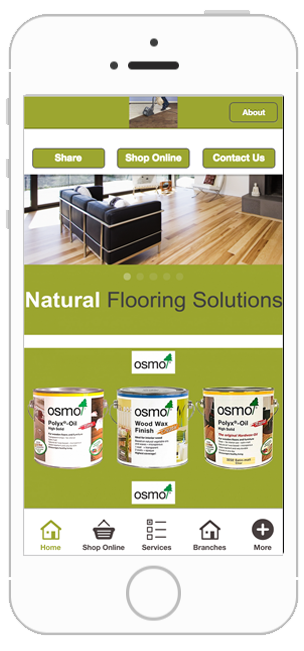Natural flooring solutions business app development