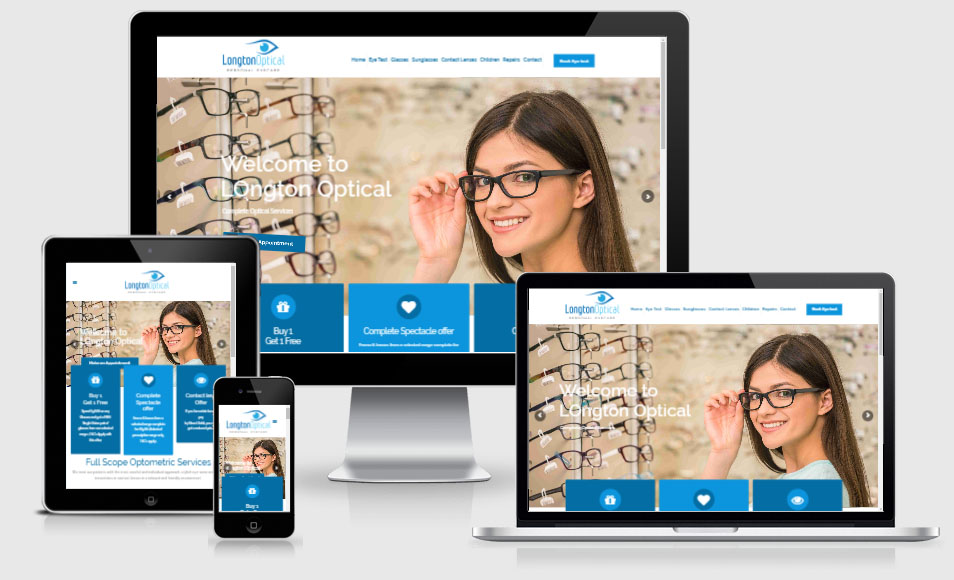 Optical website design