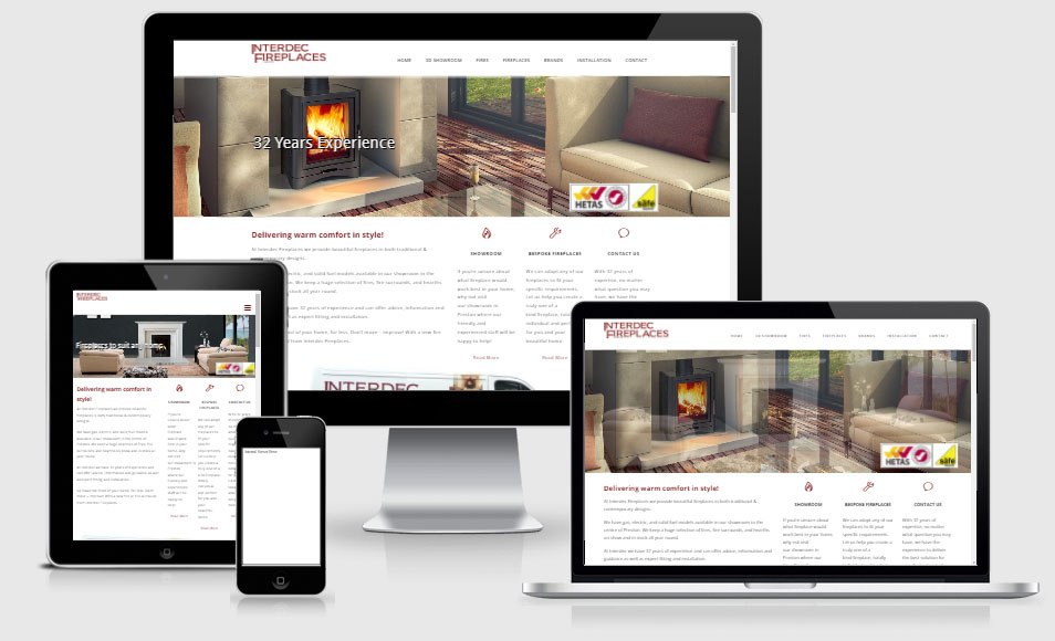interdec website design
